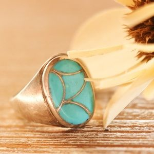 Sterling Silver Turquoise Men's Ring